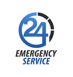 emergency service hospital twenty-four circle vector image