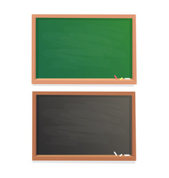 Empty school chalkboard black and green chalk vector