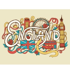 England art abstract hand lettering and doodles vector