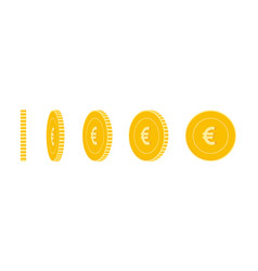 european union euro coins set animation ready vector image