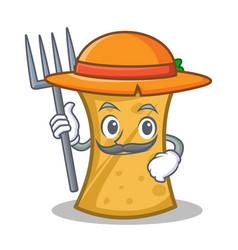 Farmer kebab wrap character cartoon vector
