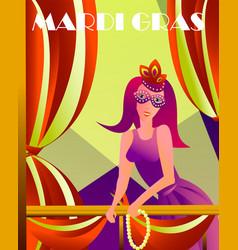 Festive multicolor background happy mardi gras vector