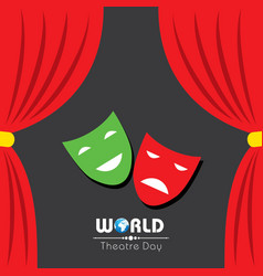 for world theatre day design vector image