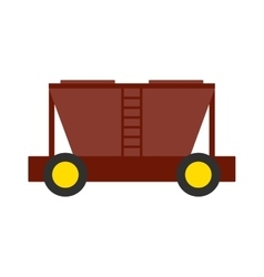 Freight car vector