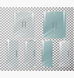 glass door transparent front vector image