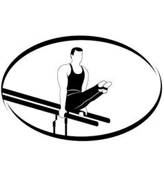 Gymnastics on the uneven bars vector image