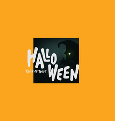 happy halloween text banner trick or treat vector image