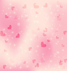 heart pink background vector image