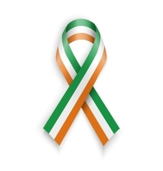 Ireland flag Abstract irish ribbons vector image