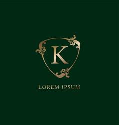 Letter k alphabetic logo design template luxury vector