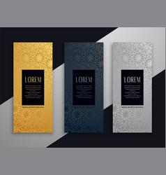 luxury vertical beautiful banner design vector image