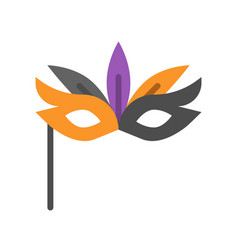 Masquerade mask halloween related icon flat design vector