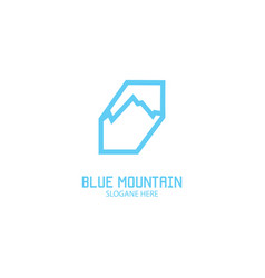 mountain health logo vector image