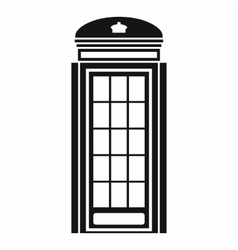 Phone booth icon simple style vector image