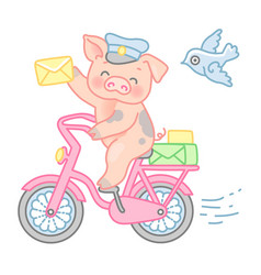 pig postman vector image