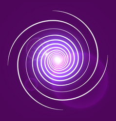 pink purple with white swirl spiral vector image