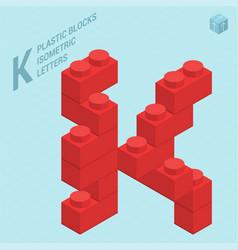 Plastic blocs letter j vector