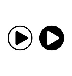 play button video and music audio player player vector image
