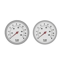 Pressure gauge bar vector