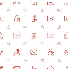 Receive icons pattern seamless white background vector