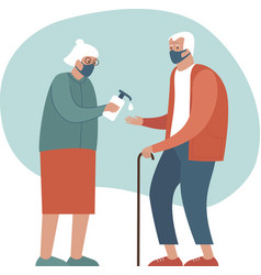 Safety measures for elderly people vector