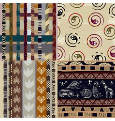 Set of African Tribal patterns vector image