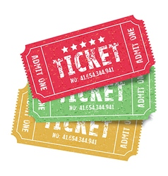 set of colourful tickets vector image