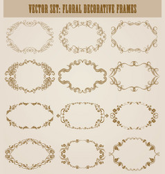 Set of decorative hand drawn elements vector
