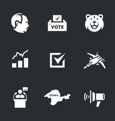 set of plebiscite icons vector image