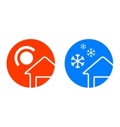 set two weather icons vector image