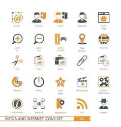 Social Media 04 vector image
