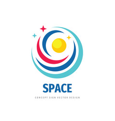 space logo template design universe concept sign vector image