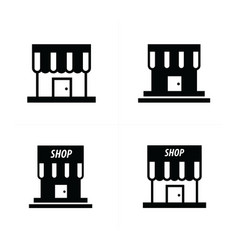 store and shop icons vector image