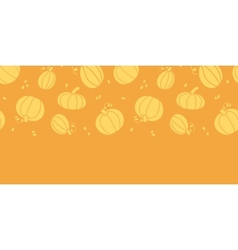 Thanksgiving golden pumpkins horizontal seamless vector image