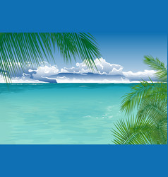 tropical ocean landscape vector image