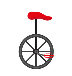 Unicycle circus icon for flat style isolated on vector