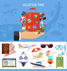 vacation and tourism banner vector image