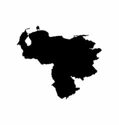 venezuela map dark silhouette vector image