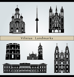 Vilnius landmarks and monuments vector image