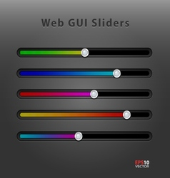 Web application GUI sliders vector