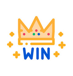 winner crown betting and gambling icon vector image