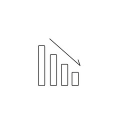 bars descending graph line icon sign on vector image