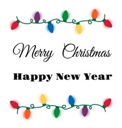 Christmas lights card vector image vector image