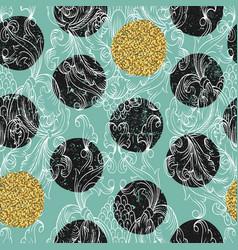 damask seamless pattern hand drawn ornamental vector image