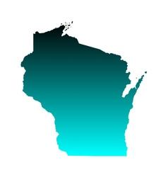 Map of Wisconsin vector image