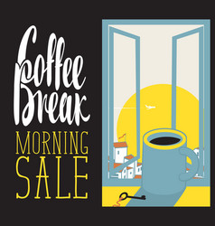 morning coffee cup vector image vector image