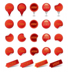 new badges | red vector image vector image