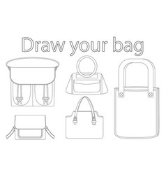 draw your bag black and white poster vector image