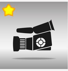 video camera black icon button logo symbol vector image vector image