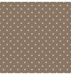 Vintage brown background with grunge polka dots vector image vector image